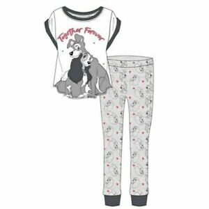 Ladies Cotton Disney's Lady & The Tramp Together Forever pyjamas sizes  8-22