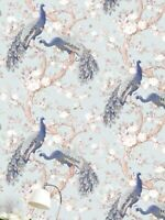 Laura Ashley Belvedere Duck Egg Wallpaper Paste The Wall * 7 Rolls Available *