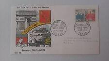 FRANCE PREMIER JOUR FDC YVERT 1176 JUMELAGE PARIS ROME 35F PARIS 1958