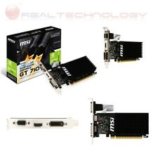 SCHEDA VIDEO 1GB DDR3 GEFORCE GT 710 MSI NVIDIA VGA DVI HDMI 1GD3H LP