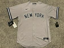 Nike Men's Replica New York Yankees Aaron Judge #99 Grey Cool Base Jersey