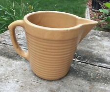 Vintage Monmouth USA Pottery Small Pitcher Rib Design