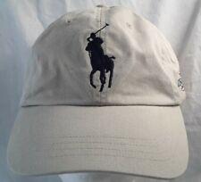 Polo RALPH LAUREN Big Pony 2006 US Open Tennis Hat Baseball Cap Ball TAN/NAVY