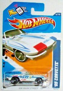 Hot Wheels '65 Corvette Police #166 HW '12 Main Street 6/10 White VHTF!