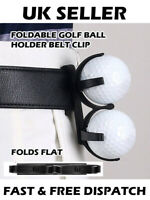 Golf Ball Holder Foldable Folding Belt Clip Carrying Golfing Gift Portable