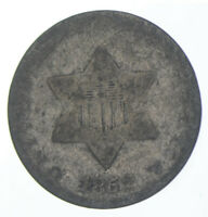 RARE Silver Trime 1852 Three Cent Silver 3 Cent Early US Coin, Free Ship! • 4708