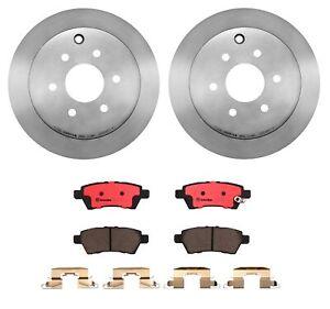 Brembo Rear Brake Kit Ceramic Pads Disc Rotors 286mm For Nissan Xterra 2006-2007