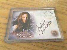 Buffy Women Of Sunnydale autograph card - Juliet Landau As Drusilla