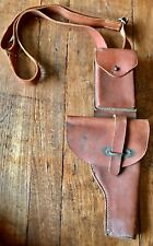 Vtg leather holster w/shoulder strap of paratrooper troops of the Argentine Army