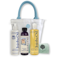 Crabtree And Evelyn Jojoba Oil Dual Hand Towel And Canvas Tote Set Bnwt