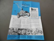 c.1940 Jacobsen Lawn Mower Catalog Brochure Lawn Queen More Racine WI Vintage VG
