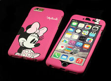 """For Apple iPhone 6 6s 4.7"""" Disney Minnie Mouse Front + back Case cover Defender"""