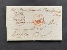 1809 Gb Stampless Letter Signed George Hope Brtish Navy French Revolutionary War