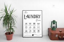 Laundry Room Wall Décor Sign Poster Print Typographic Rustic A4 Free Postage