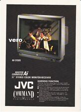 1991 magazine ad paper print JVC Master Command Ai stereo color monitor receiver