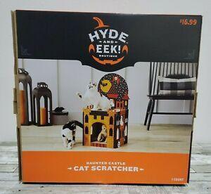 Hyde & Eek - Haunted Castle Cat Scratcher - Cat House W/ Roof Scratch Pad