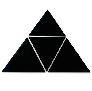 Black Triangle Mosaic Wall Tiles (Several Sizes Available)