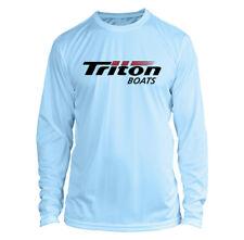 Triton Boats Long Sleeve Microfiber Upf Fishing Shirt Arctic Blue