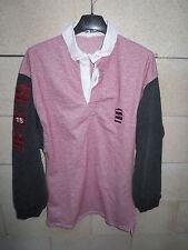 Polo SERGE BLANCO 15 maillot QUINZE rouge gris S coton
