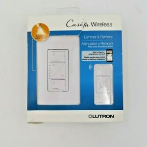 Lutron Caseta Wireless Dimmer & Remote Wall & Ceiling Lights P-PKG1W-WH-R New