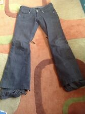 Burton Snowboard Ski insulated denim Jeans Pants . Men's XS