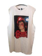 H&M Tank Top David Bowie Print Small NWT White
