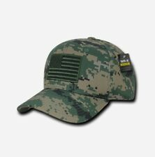 US Tactical Operator Cap Mütze w gestickter USA Flag Flagge MCU woodland digital