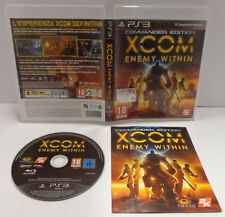 Console Game SONY Playstation 3 PS3 PAL ITA XCOM ENEMY WITHIN Commander Edition