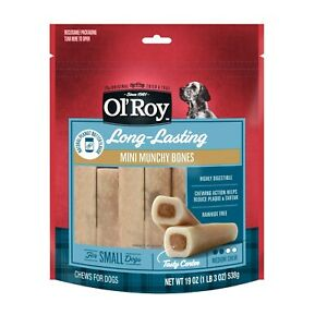 Ol' Roy Long-Lasting Mini Munchy Bone For Small Dogs Peanut Butter  (1-19 OZ Bag