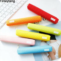 Cute Candy Color Pencil Case Lovely Dot Pen Bag Stationery Pouch School Supplies
