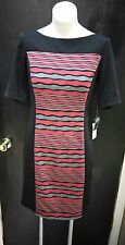 NWT Womens GABBY SKYE Black Red Gray Dress. RT $88