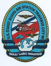 uscg patch air sta Traverse City, MI great lakes guardian, 4-7/8 X 3-3/4