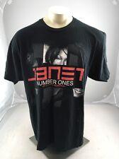 Janet Jackson Number Ones Concert Tour Graphic T-Shirt 2011 2XL Black Cotton