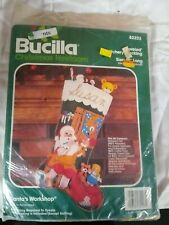 Bucilla Christmas Heirloom Santa's Workshop Stocking Kit