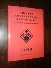 LE JOURNAL DE ANNE FRANK - Théâtre Montparnasse - Gaston Baty 1957-58