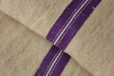 GRAIN SACK grainsack linen bag PURPLE  linen woven bag c 1930's