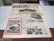 L AUTO JOURNAL N° 158 15 septembre 1956 COULISSES SALON PLYMOUTH SAVOY MONET *