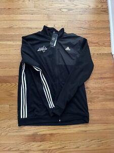 adidas Washington Capitals Men's Full Zip Jacket Black Sz XL