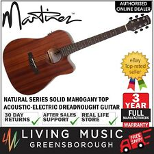 NEW Martinez Solid Mahogany Top Acoustic-Electric Dreadnought Guitar (Satin)