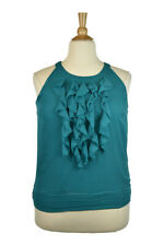 DressBarn Women Tops Blouses XL Teal Polyester