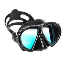 No Fear Sub-X Plongée Ocean Masque Plongée en verre trempé Hyper-Dry Noir A651