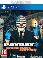 PAYDAY 2 CRIMEWAVE EDITION - PLAYSTATION PS4 BRAND NEW FREE DELIVERY