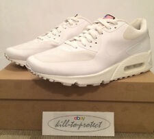 NIKE AIR MAX 90 HYPERFUSE USA WHITE U10 UK9 QS 613841-110 Independence Day 2013