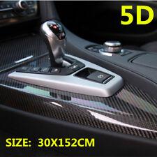 5D Carbon Fiber Vinyl Car Wrap Sheet Roll Film Sticker Decal 30X152CM