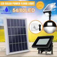 54/80 LED Solar Flood Light Outdoor Garden Security Wall Lamp Spot  L K H W