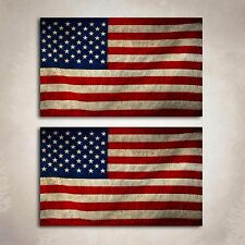 American Flag Distressed Decal Sticker Vintage Military USA Graphic 2 Decals
