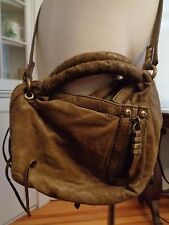 "orYANY ""Heather"" distressed cross body clutch 100% leather moss boho"