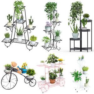 Metall Pflanzenständer Blumenständer Pflanzenregal Blumentreppe 4 5 6 7 Etagen