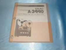 TEAC A-3440 REEL TO REEL OWNERS MANUAL FREE SAME DAY SHIPPING