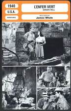 L'ENFER VERT - Fairbanks,Bennett,Price,Hale (Fiche Cinéma) 1940 - Green Hell
